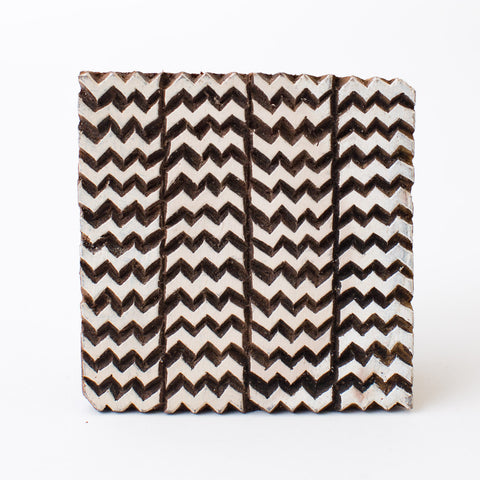 Wood Block - Zig Zag Rows