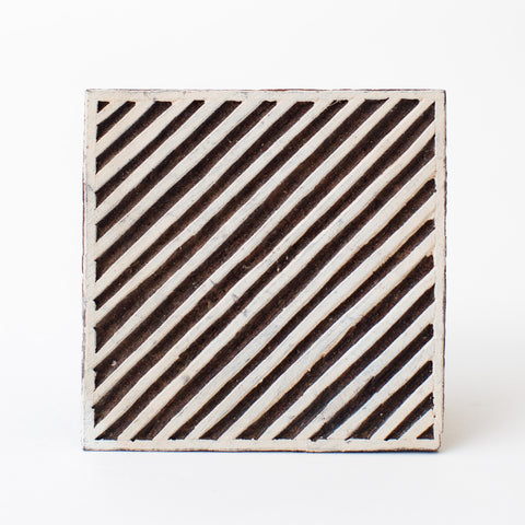 Wood Block - Diagonal Lines