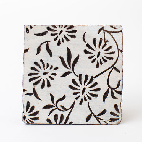 Wood Block - Flower Vine