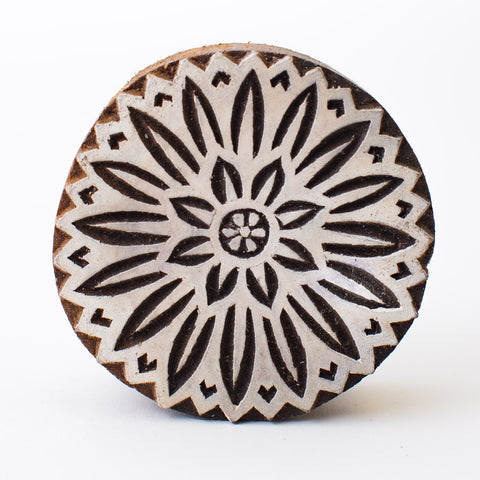 Wood Block - Circle Lotus