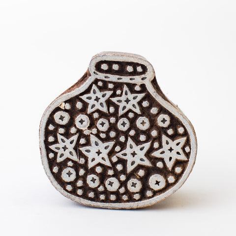 Wood Block - Water Pot with Stars