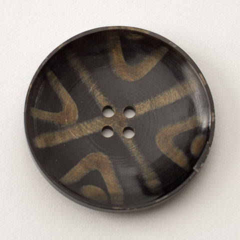 Dish Shaped Button - Horn