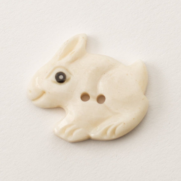 Button - Bone Rabbit