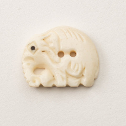 Button - Bone Elephant