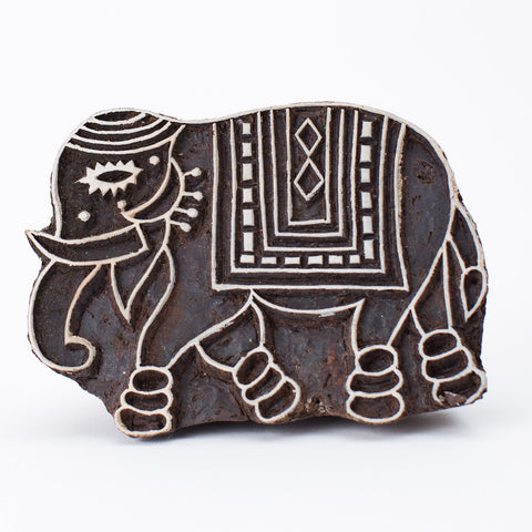 Wood Block - Decorative Elephant