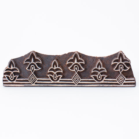Wood Block - Leaf Motif Border