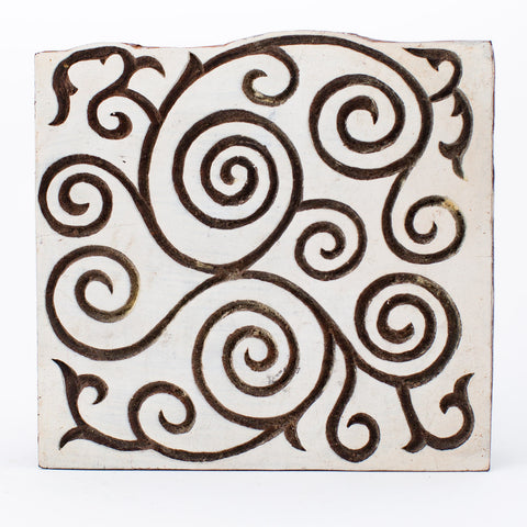 Wood Block - Swirled Vine