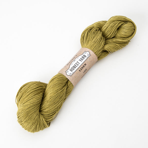 Honest Yarn - Organic Linen / Lace / New Leaf