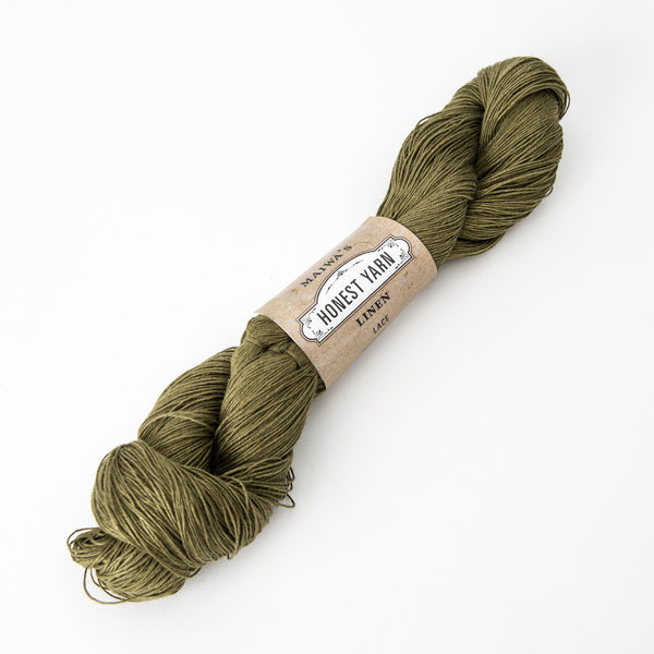 Honest Yarn - Organic Linen / Lace / Moss