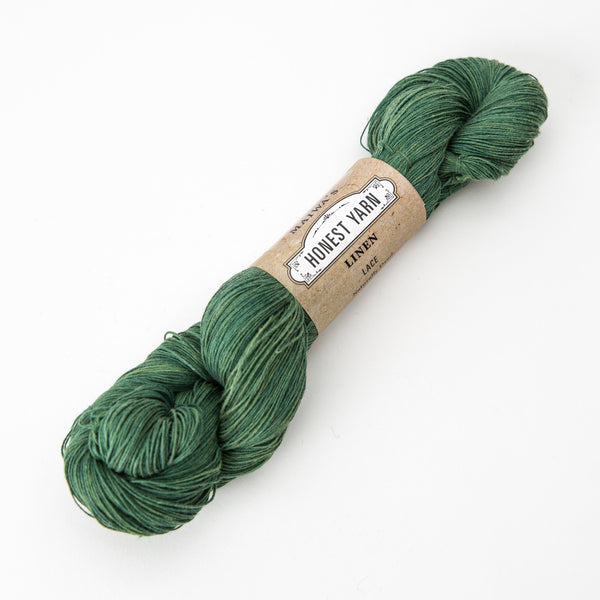 Honest Yarn - Organic Linen / Lace / Teal