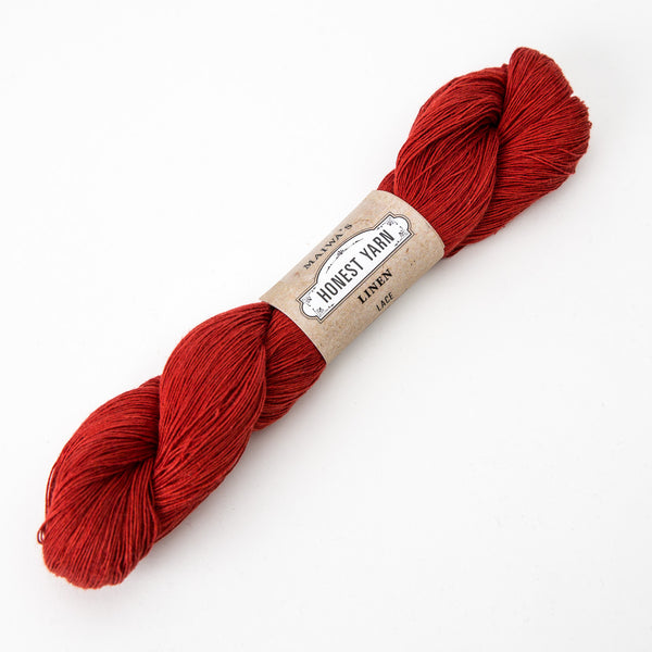 Honest Yarn - Organic Linen / Lace / Madder Dark