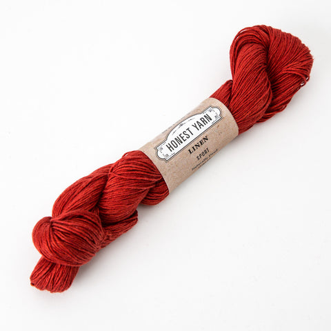 Honest Yarn - Organic Linen / Sport / Madder Dark