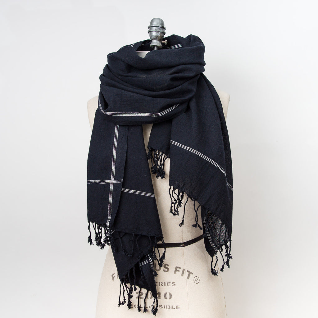 Basic Cotton Shawl - Black
