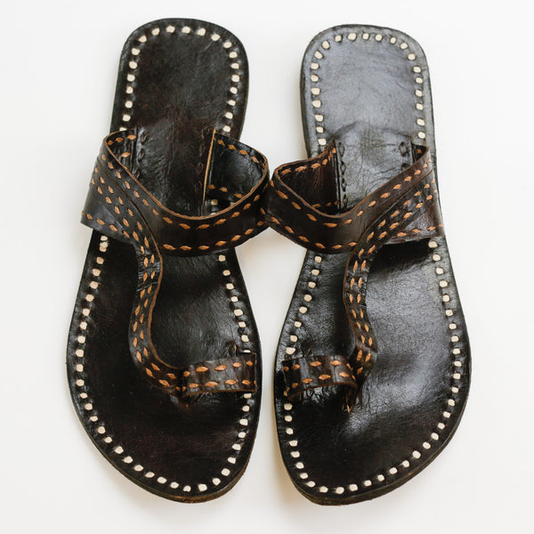 Pushkar Leather Sandal - Brown