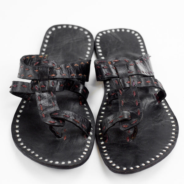 Jaipur Leather Sandal - Black