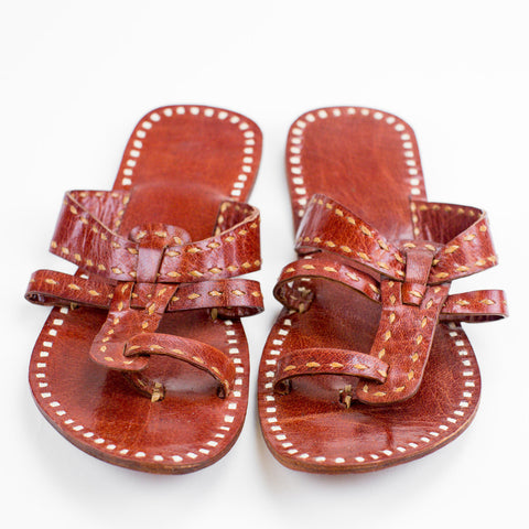 Jaipur Leather Sandal - Red