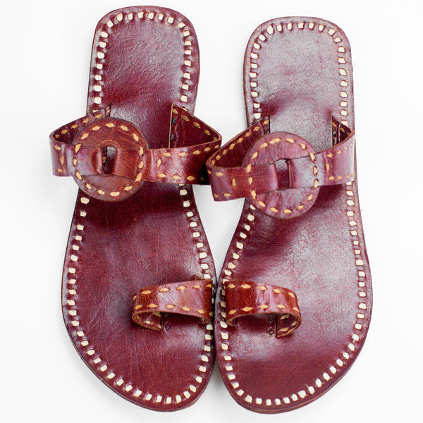 Ajmer Leather Sandal - Red