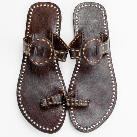 Ajmer Leather Sandal - Brown