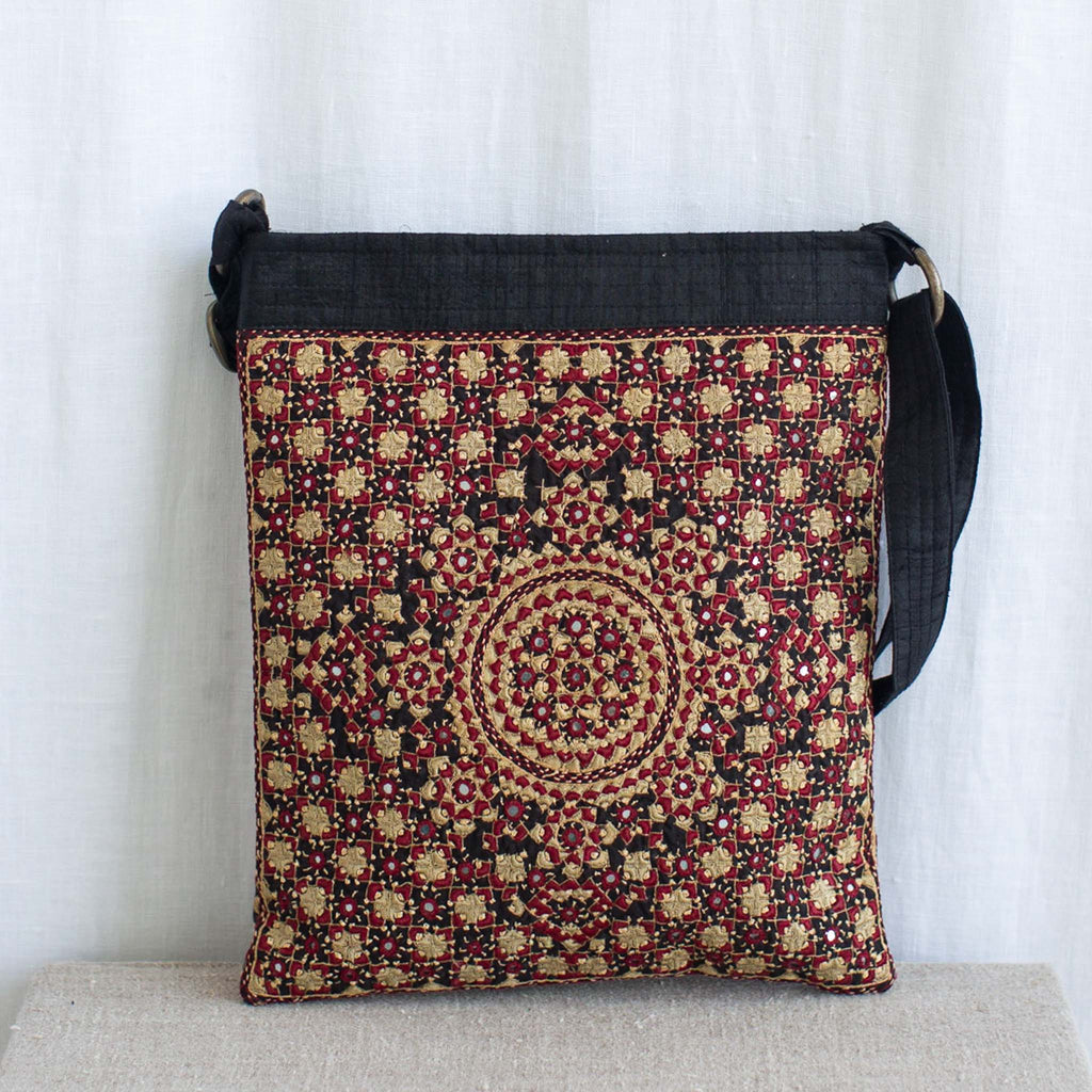 Kachchh Embroidery - Double Sided Shoulder Bag - Pattern D