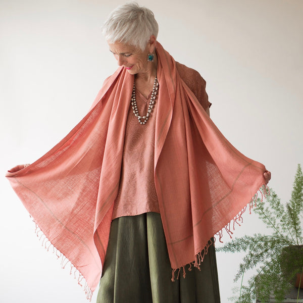Basic Cotton Shawl - Blush