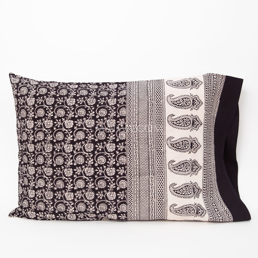 Organic Cotton Pillow Case - Bagh Print - Small Floral