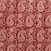 Organic Cotton Rectangular Tablecloth - Red Paisley