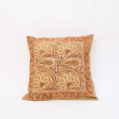 Organic Cotton Cushion Cover - Kalamkari - Desert Blossom