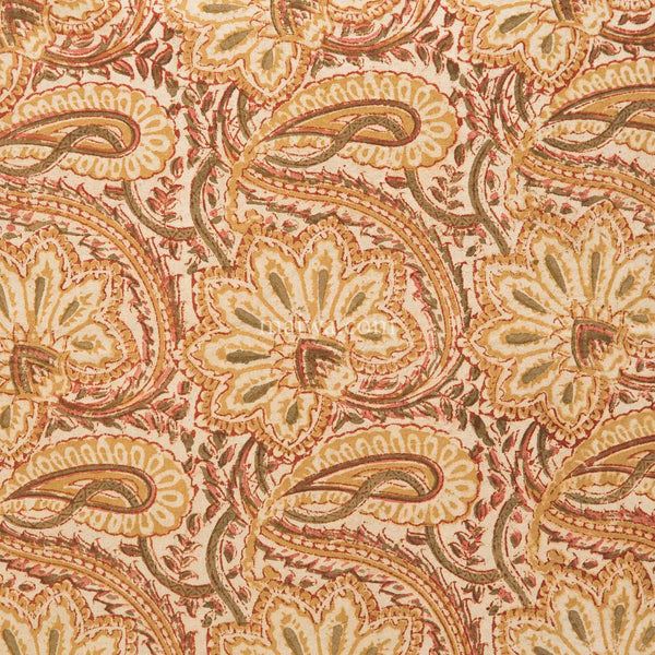 Organic Cotton Tablecloth - Kalamkari - Desert Blossom