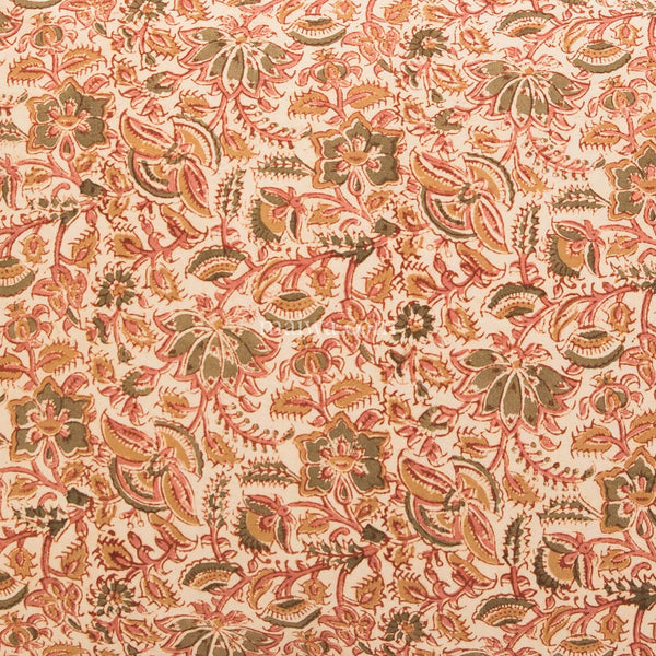 Organic Cotton Sheet - Kalamkari - Desert Flower