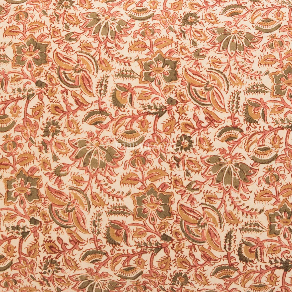 Organic Cotton Tablecloth - Kalamkari - Desert Flower