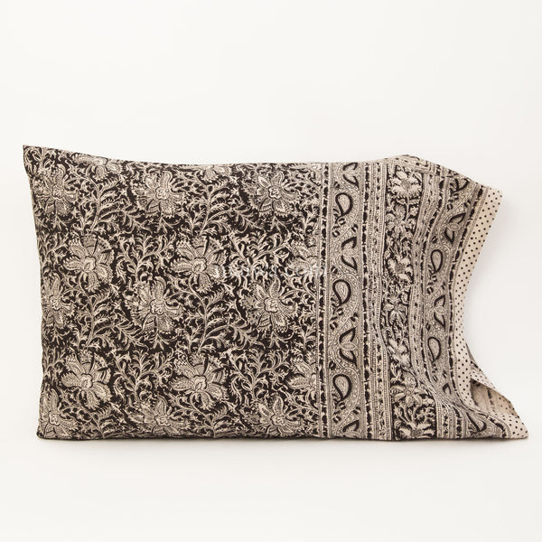 Organic Cotton Pillow Case - Midnight Blossom