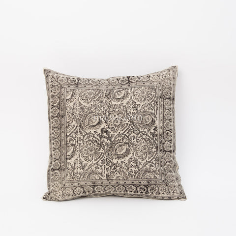 Organic Cotton Cushion Cover - Kalamkari - Smokey Vine