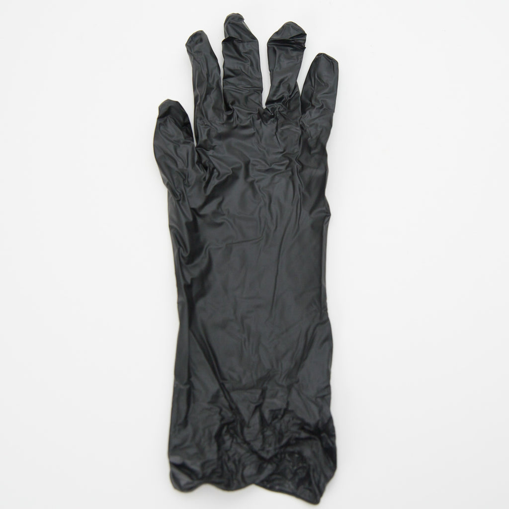 Black Vinyl Gloves (10 Pairs) - Large