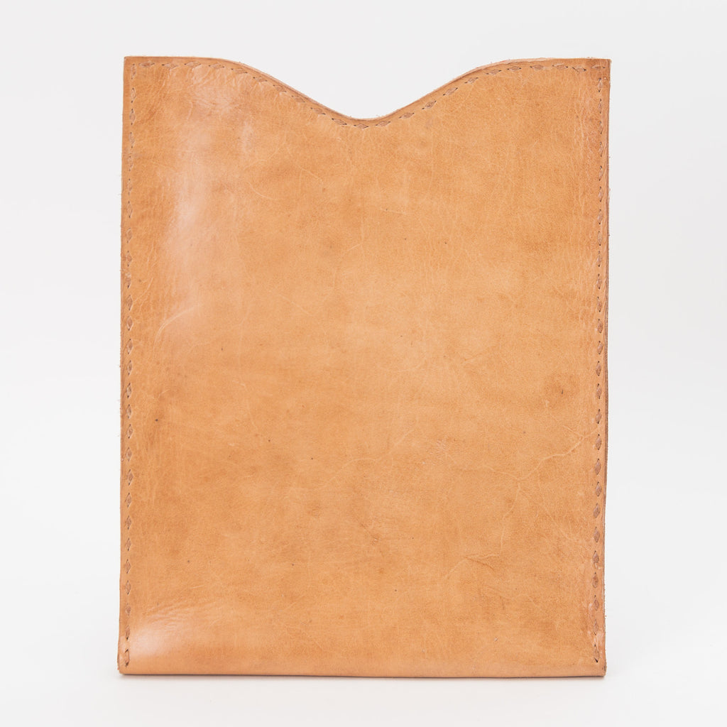 Leather iPod or Tablet Case - Tan