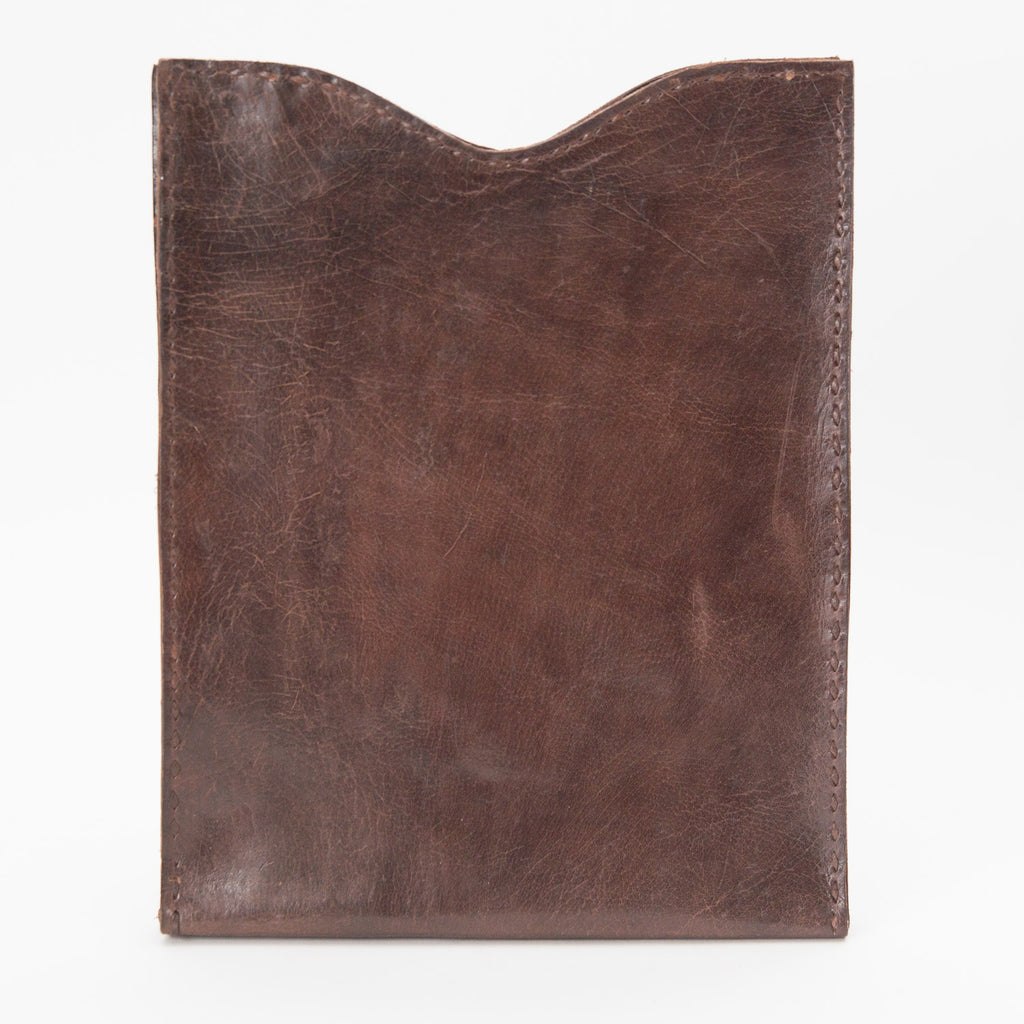 Leather iPad or Tablet Case - Brown