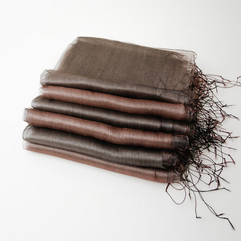1/2 Dozen - Silk Nuno Shawls Handwoven Neutral