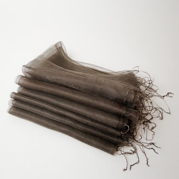 1/2 Dozen - Silk Handwoven Nuno Scarves - Warm Grey