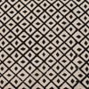Fabric - Heavy Organic Cotton Block Printed with Natural Dyes - B&W Diamond