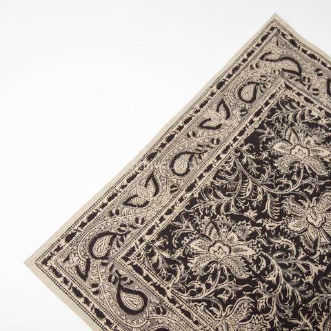 Organic Cotton Napkin - Kalamkari - Midnight Blossom