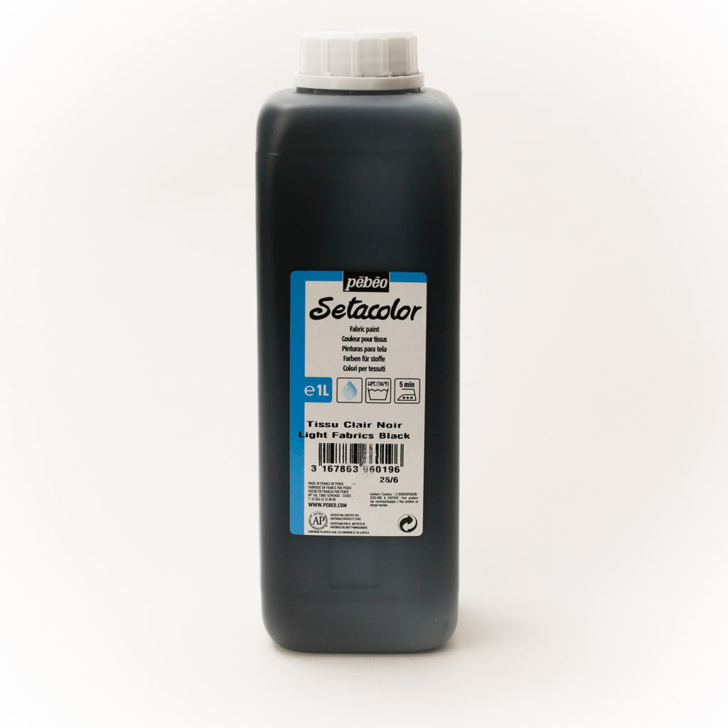 Setacolor Transparent 1000 ml Black 19