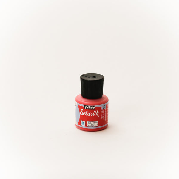 Pebeo Setasilk 45ml (1.5 oz) Poppy Red #5