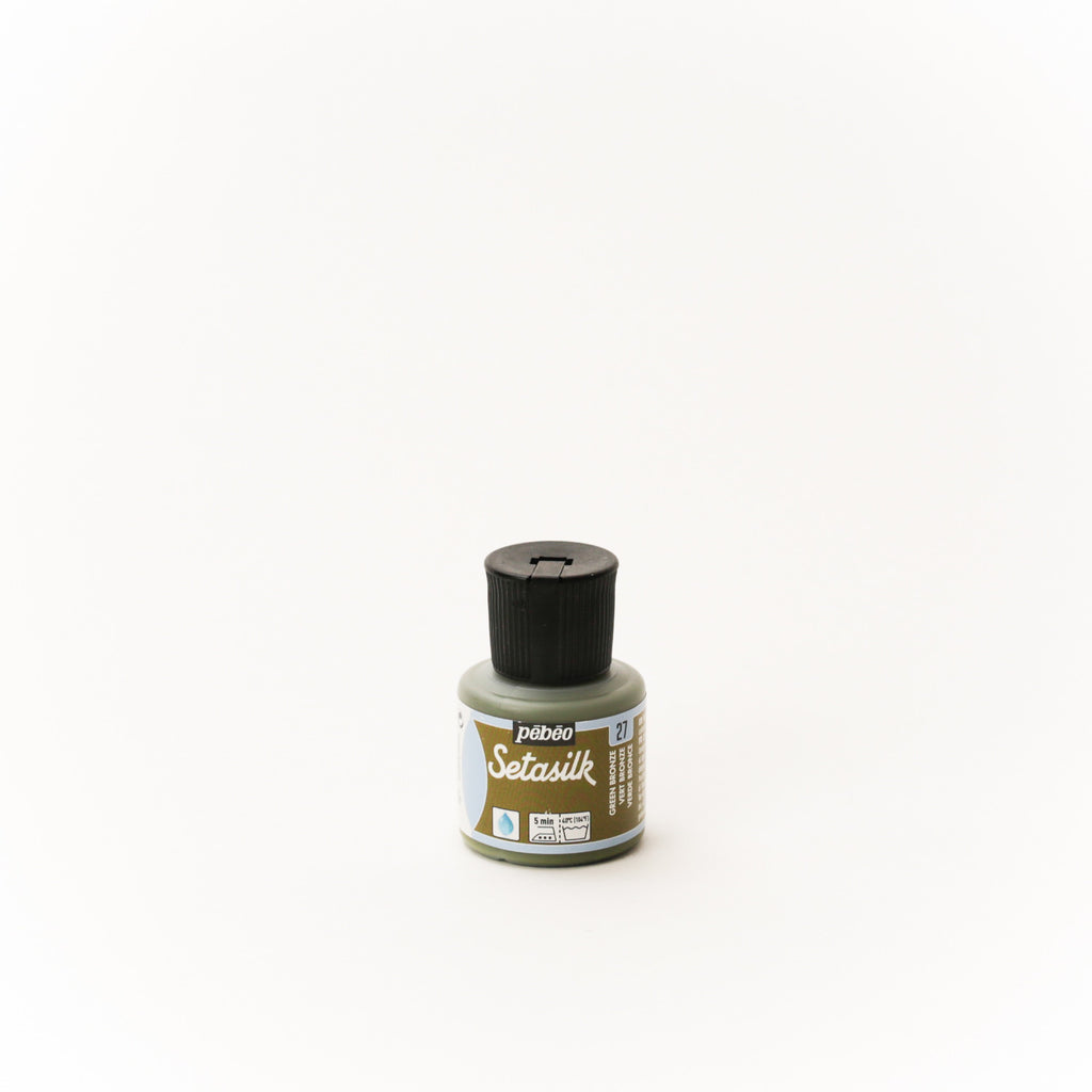 Pebeo Setasilk 45ml (1.5 oz) Green Bronze #27
