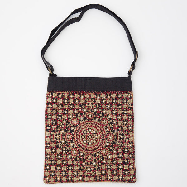 Kachchh Embroidery - Double Sided Shoulder Bag - Pattern 1
