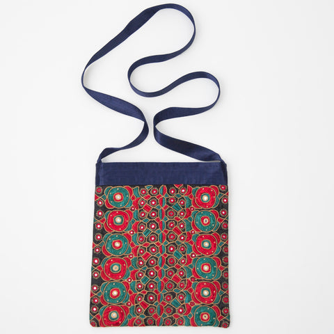 Kachchh Embroidery - Blue Shoulder Bag - Pattern 1