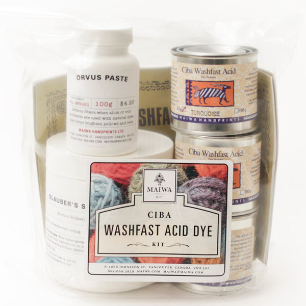 Ciba Washfast Acid Dye Kit