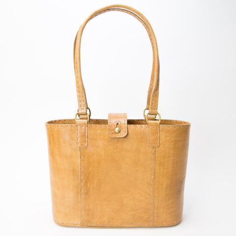 Leather Walkabout Bag Medium - Tan