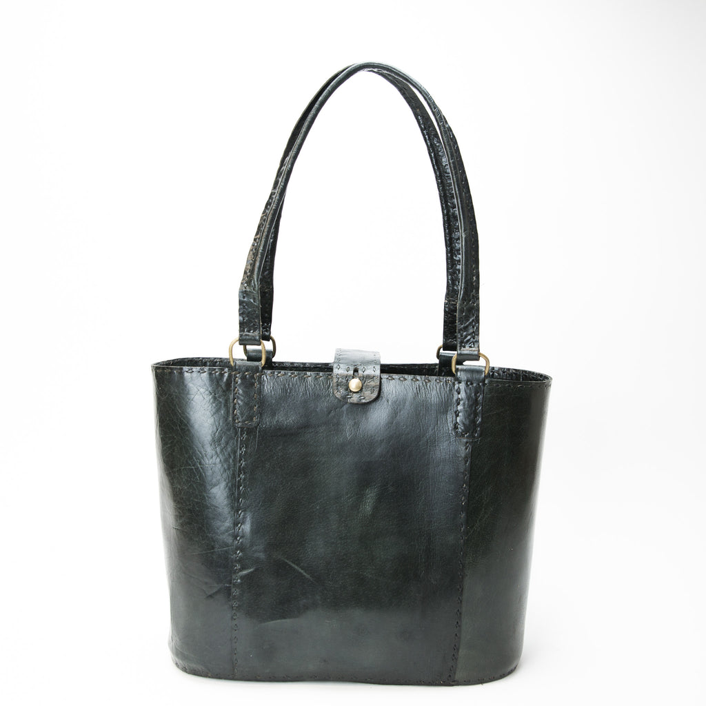 Leather Walkabout Bag Large - Black