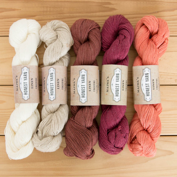 Honest Yarn, Linen, natural dyes, Flax