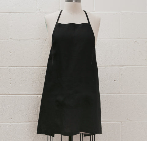 Maiwa Simple Apron - Black Linen