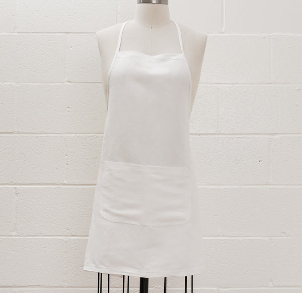 Maiwa Simple Apron - White Linen
